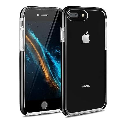 Comprar funda Bumper Negro Transparente iPhone 7 Plus
