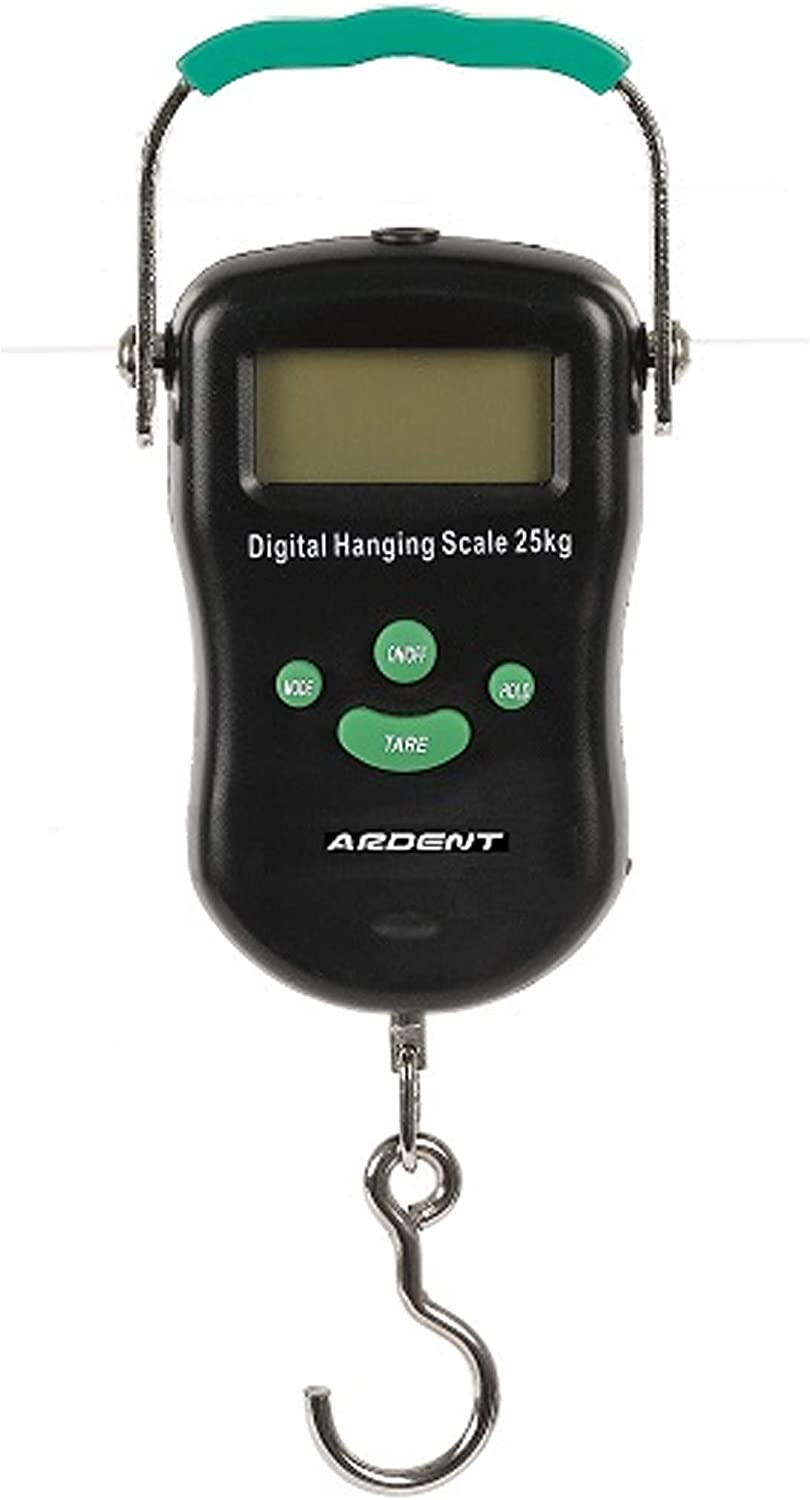 Ardent Digital Hanging Scale, Measures up to 55 Pounds, Battery Included