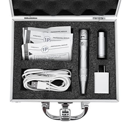 Permanent Tattoo Pen Kit with Needles Cartridges Power Supply Portable High Speed Motor Rotary Tattoo Machine