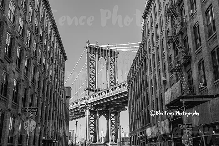 Amazon Com Brooklyn Manhattan Bridge B W Dumbo Washington St