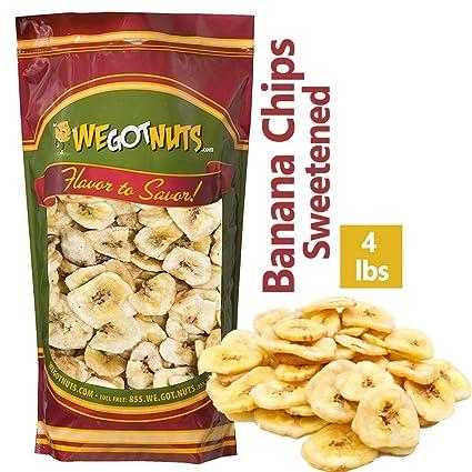 We Got Nuts - Chip de plátano endurecido (4 libras) sellado ...
