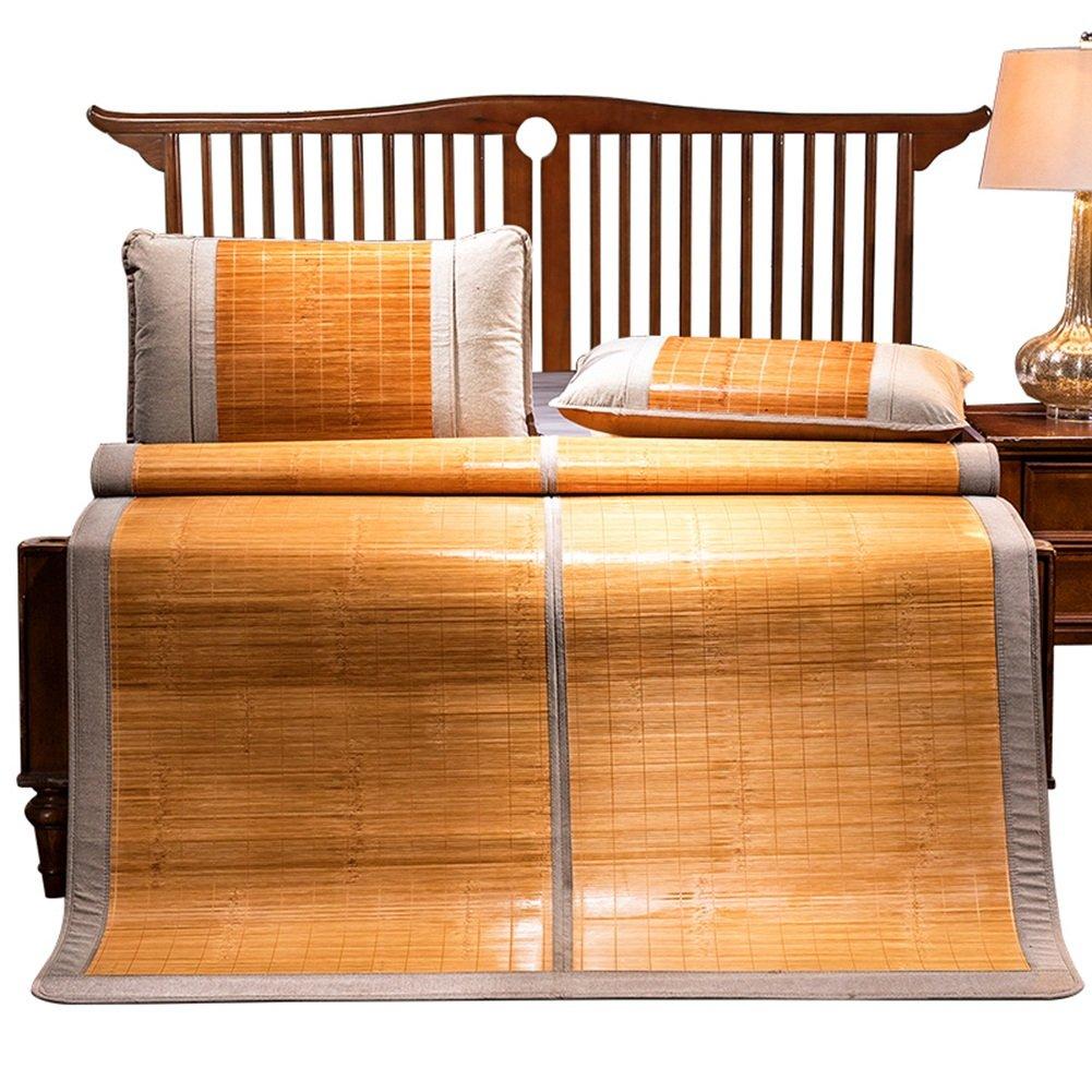WENZHE Bambus Matratzen Sommer-Schlafmatten Strohmatte Teppiche Falten Doppelseitige Verwendung Poliersitz Zuhause Schlafsaal Multifunktion, 6 Dimensionen (größe : 1.8×2.0m)