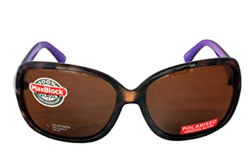 6c39ab96c51 Image not available for. Colour  Foster Grant FG18 Women s Rectangular  Style Sunglasses Black Brown Tortoise Shell Frame   Arms with Purple