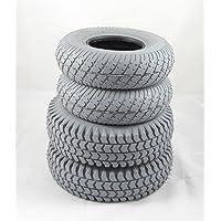 Juego de 4gris bloque neumáticos para Sapphire 2(2x3.00–4)