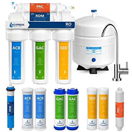 60a404d00 Express Water Reverse Osmosis Water Filtration System – 5 Stage RO Water  Purifier with Faucet and