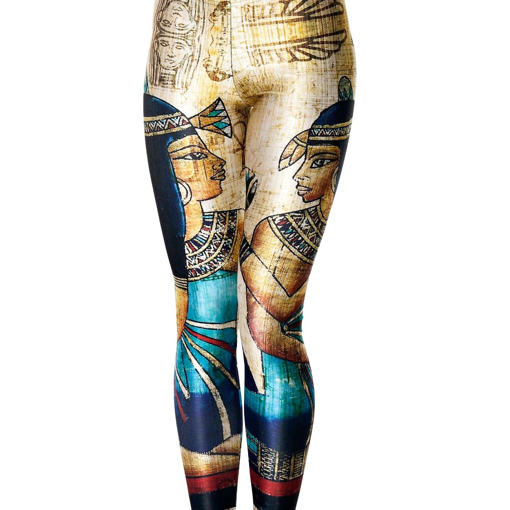 Idingding Womens Galaxy Star Printed High Waist Leggings Pants IIDD_35_1188