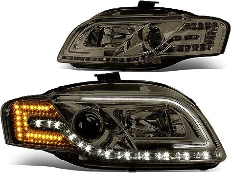 05-08 Audi A4 Sedan Headlight Headlamp Head Light Lamp Left Right Side Set PAIR