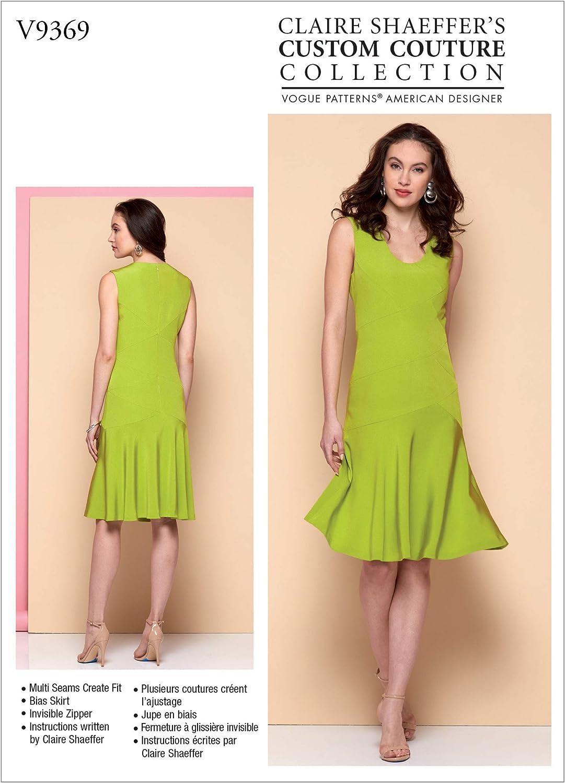 Vogue Patterns-V9369-Miss Patrons de robes en papier divers blanc