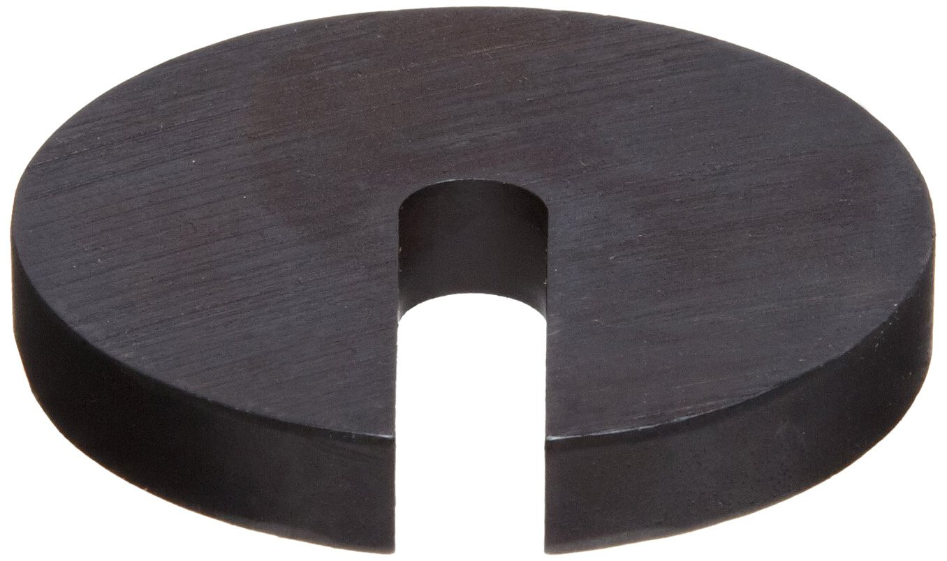 Steel Slotted Washer, Black Oxide Finish, #4 Hole Size, 1.313'' ID, 3'' OD, 0.438'' Nominal Thickness, Made in US by Small Parts