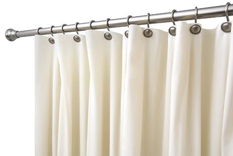 BINO Heavyweight Non Toxic PEVA Shower Curtain Liner, Beige