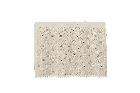 Heritage Lace Prima Eyelet Cafe Tier with Trim, 42 by 30-Inch
