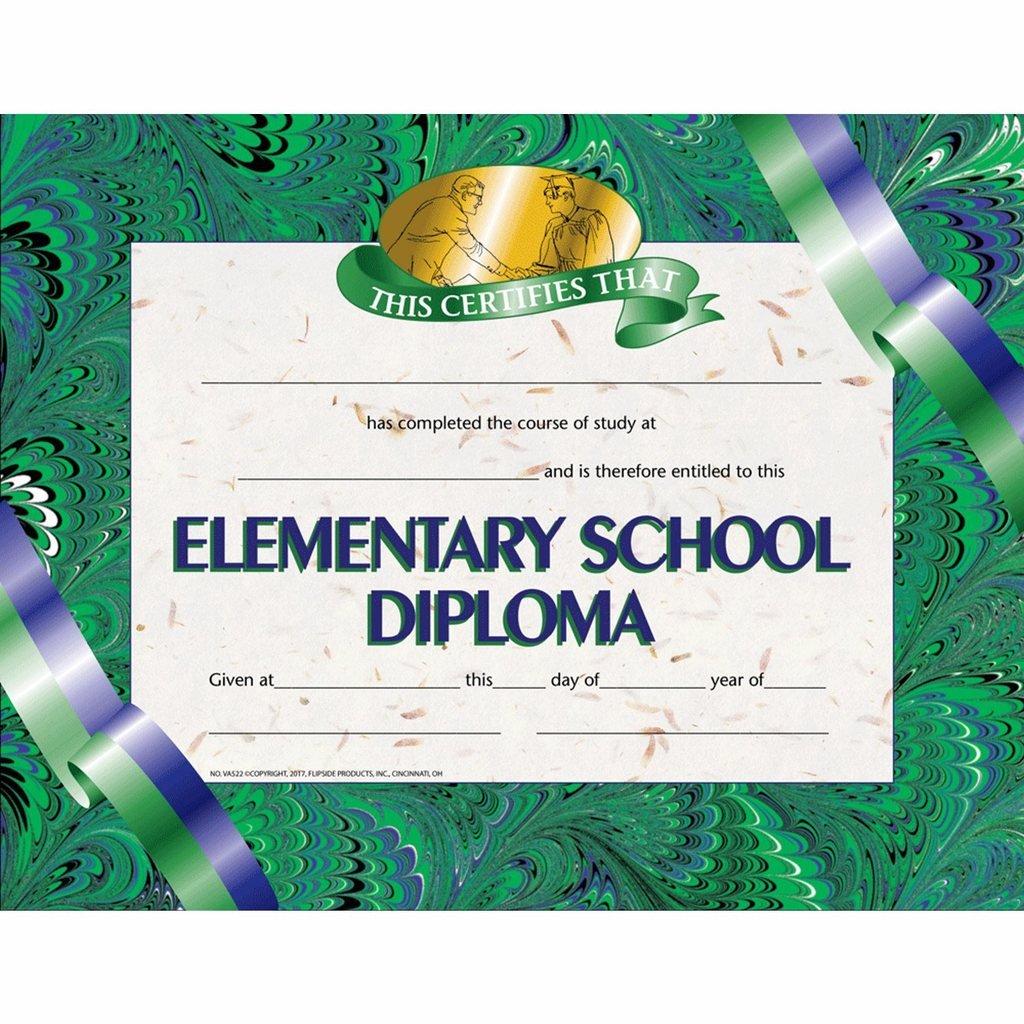 Elementary School Diploma - Glossy Paper - Quantity 150