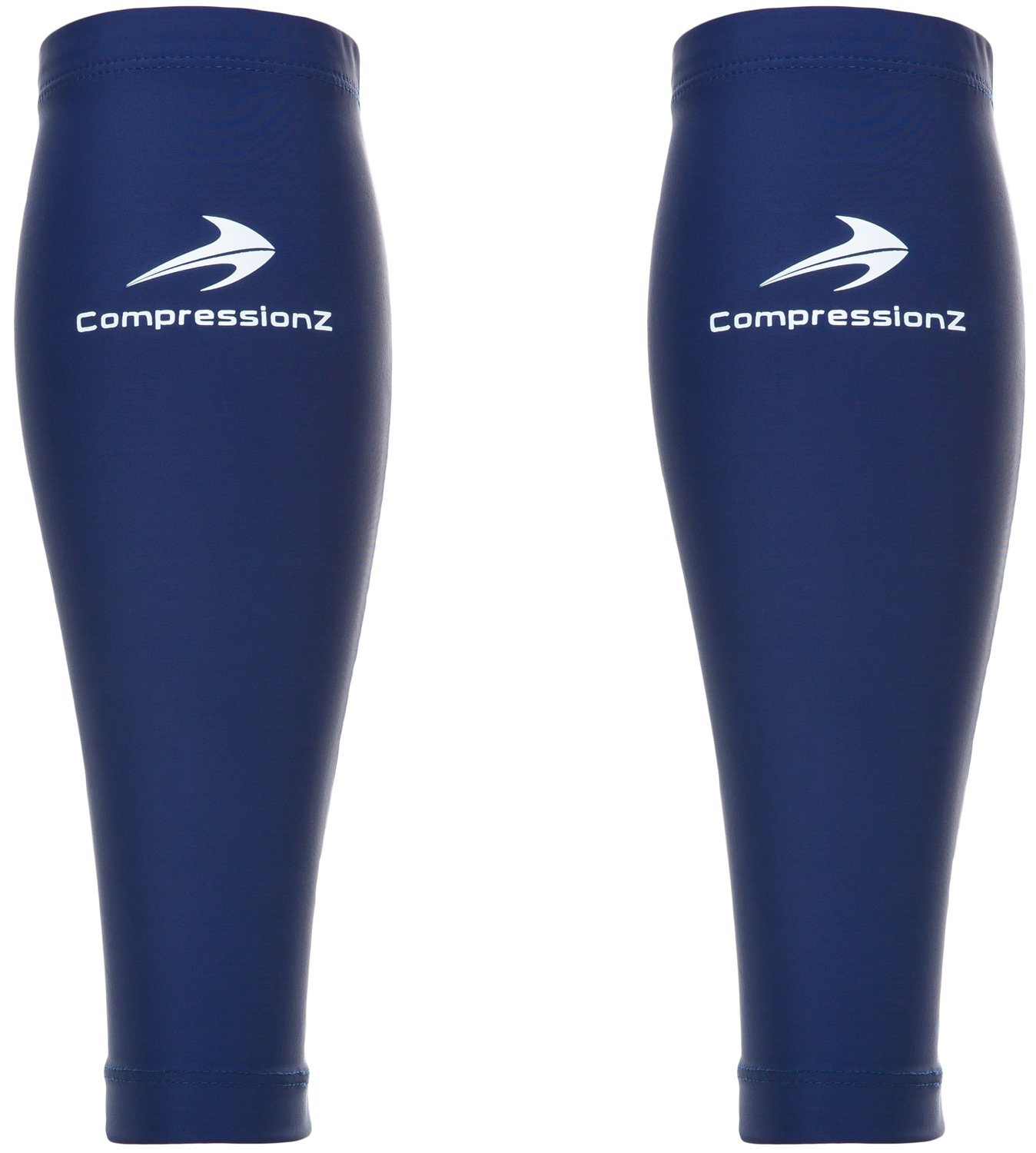 CompressionZ Calf Compression Sleeves (20-30mmhg) - Compression Socks for Shin Splints, Running, Nurses, Leg Pain & Pregnancy for Men, Women - Support Recovery and Improve Blood Circulation