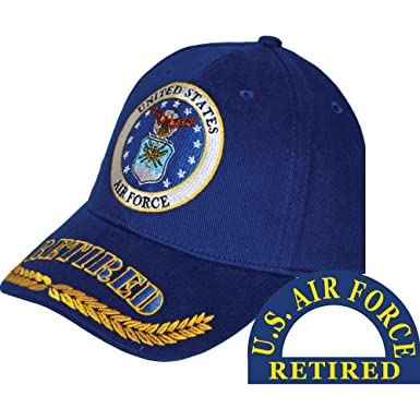 f3a435cd4c9 United States Air Force Retired Blue Hat Cap USAF at Amazon Men s ...