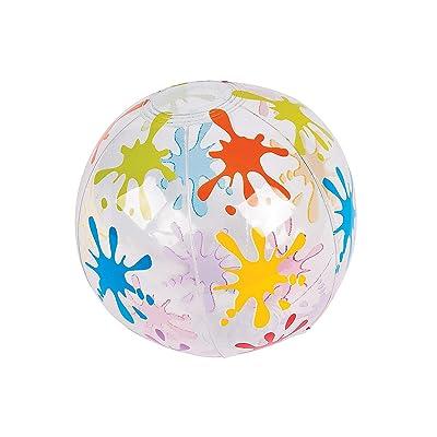 Fun Express - Little Artist Mini Beach Balls for Birthday - Toys - Inflates - Mini Beach Balls - Birthday - 12 Pieces: Toys & Games