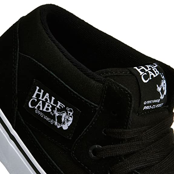 Vans Half Cab Pro Black Black White Shoe VA38CPB8C  Amazon.co.uk  Shoes    Bags ea29a69cd14