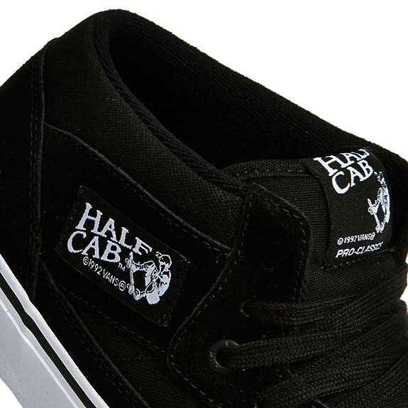 987be5f97be5 ... Skate Shoes d79f89ff1a0  Vans Half Cab Pro Black Black White Shoe  VA38CPB8C Amazon.co.uk Shoes Bags ...