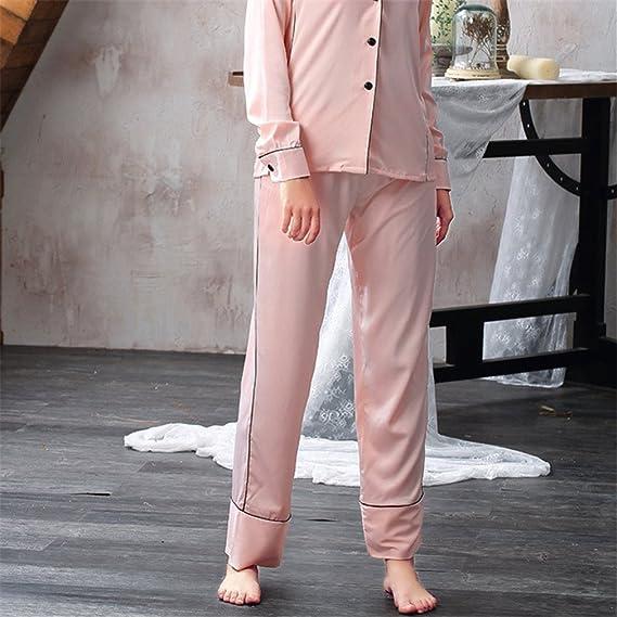 Sexy Womens DeepHomewear Set Fashion Korean Style Fashionable Ladies Nightwear Pijamas Set Faux Pink Set M at Amazon Womens Clothing store: