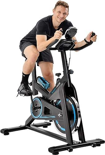 Merax Exercise Bike Stationary Indoor Cycling Bike 35lbs Chromed Flywheel Indoor Workout Bike
