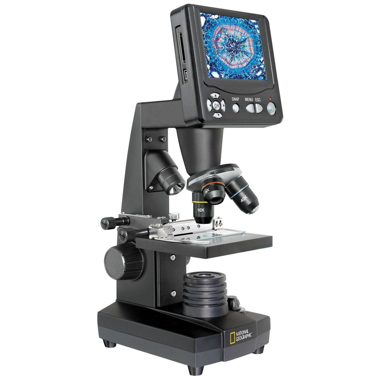 National Geographic 40X-1600X LCD Microscope, 80-10301 by NATIONAL GEOGRAPHIC