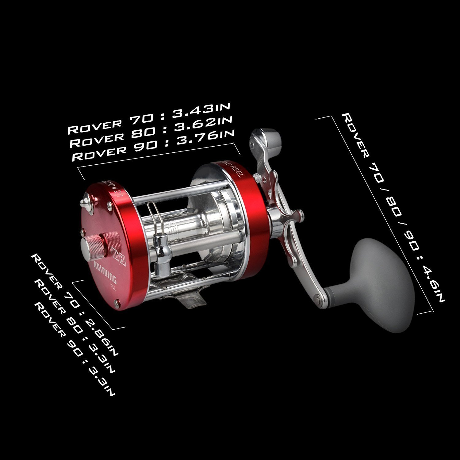 KastKing Rover Round Baitcasting Reel, Right Handed Reel,Rover80 by KastKing (Image #9)