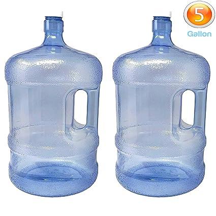 Amazon.com: LavoHome - Botella de agua de plástico de 5 ...