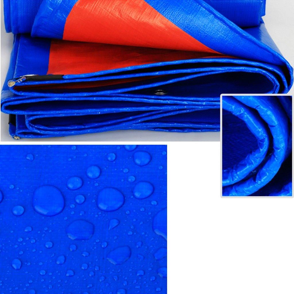 CAOYU der Verdicken Regenplane-Auto-LKW-Verschalungsstoff der hohen Dichte der Freien Plane der CAOYU hohen Temperatur Anti-Altern, Blau + Orange d79182
