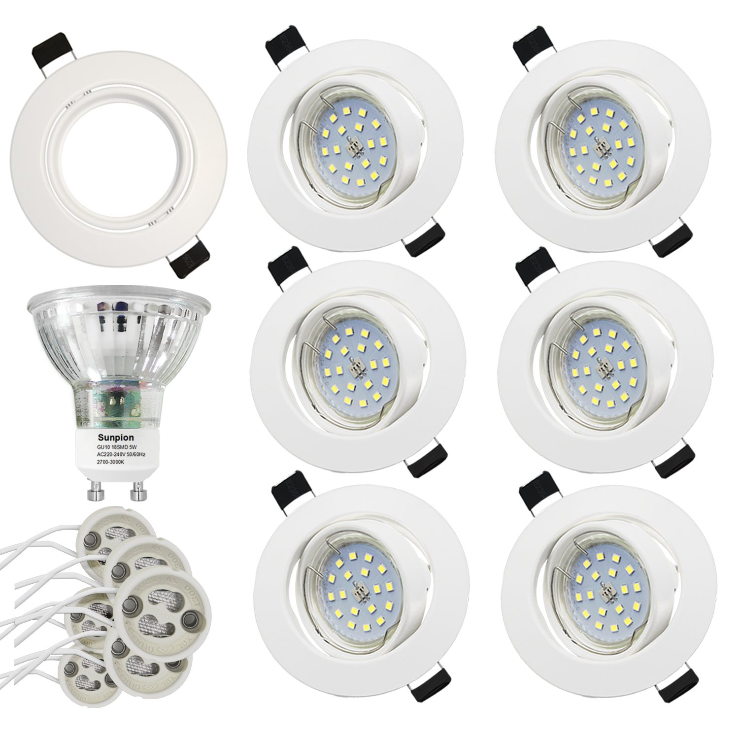 Foco Empotrable | LED Luz de Techo 5W Equivalente a Incandescente 60W | Blanco Cálido 2700K