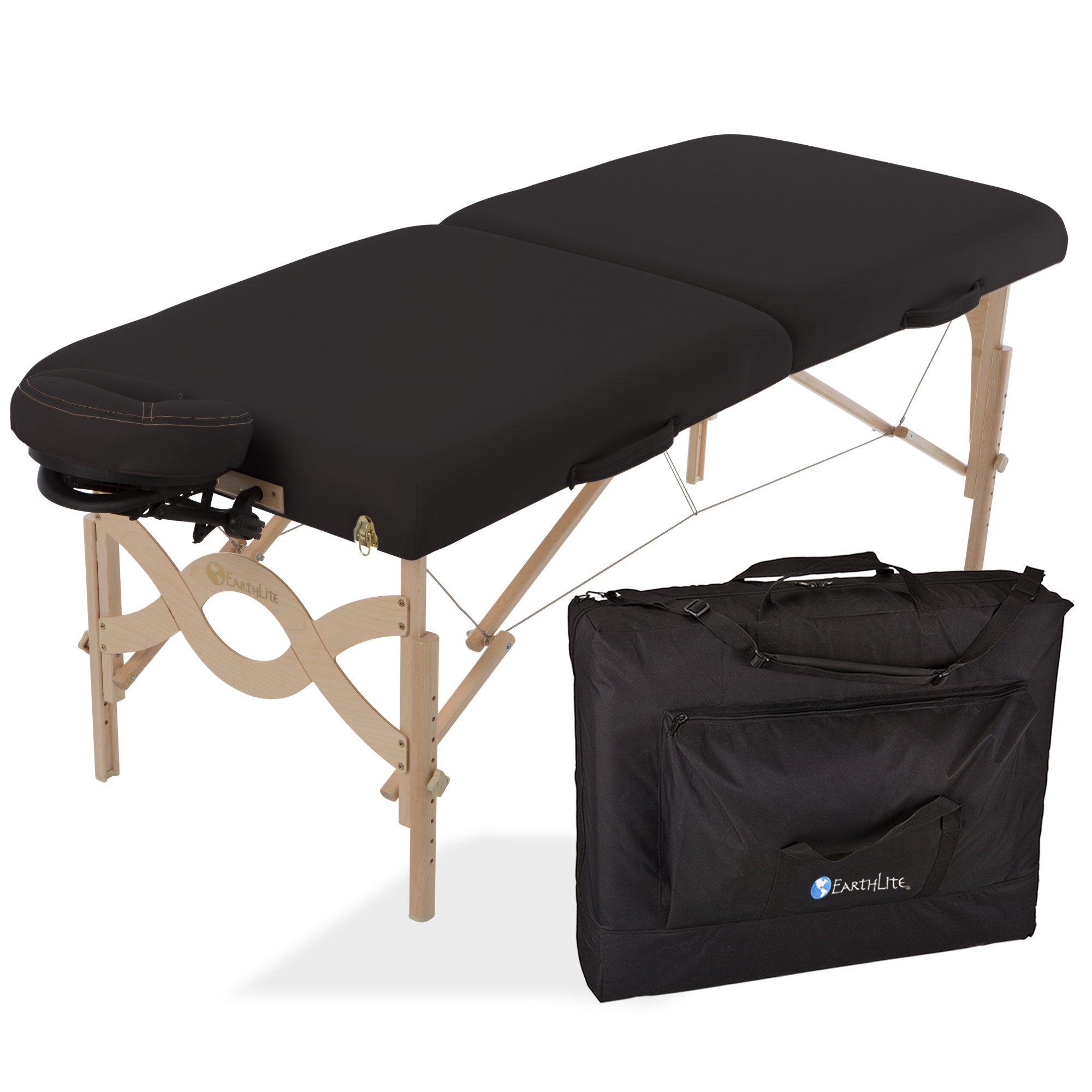 EARTHLITE Avalon XD Massage Therapy Table Package Flat - Premium Value & Style, Professional Massage Table Portable incl. Flex-Rest Face Cradle and Carry Case