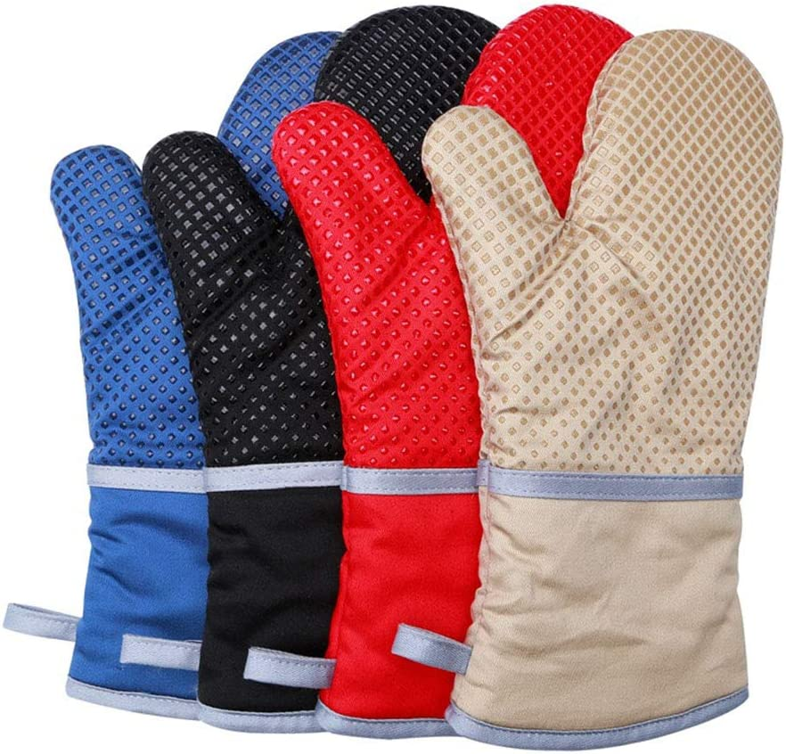 Cuisson Grillades 1 Paire Gant de Four Anti Chaleur Gants de Cuisine Anti Coupure Maniques de Cuisine Lavable pour BBQ