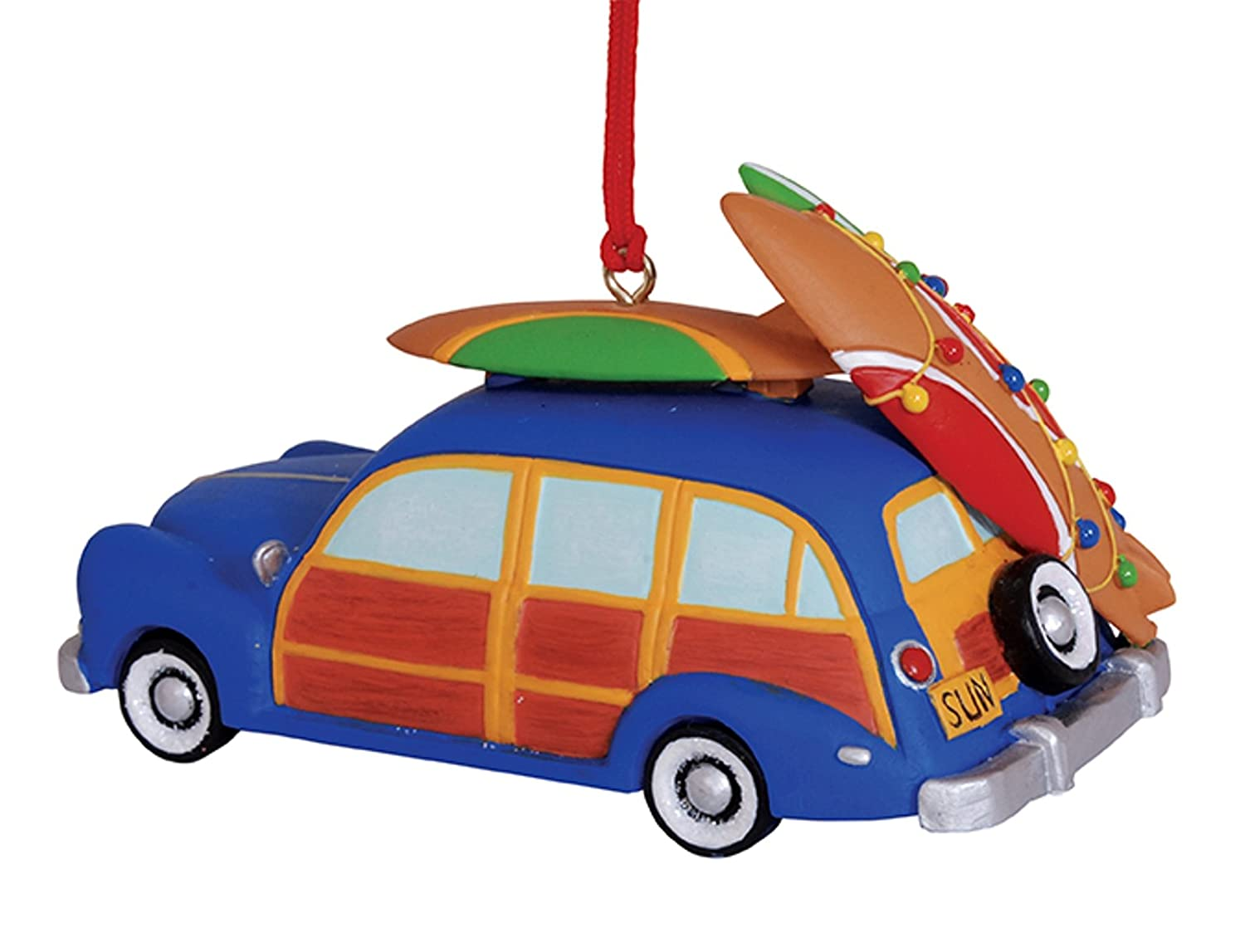 Woody Beach Car Ornament