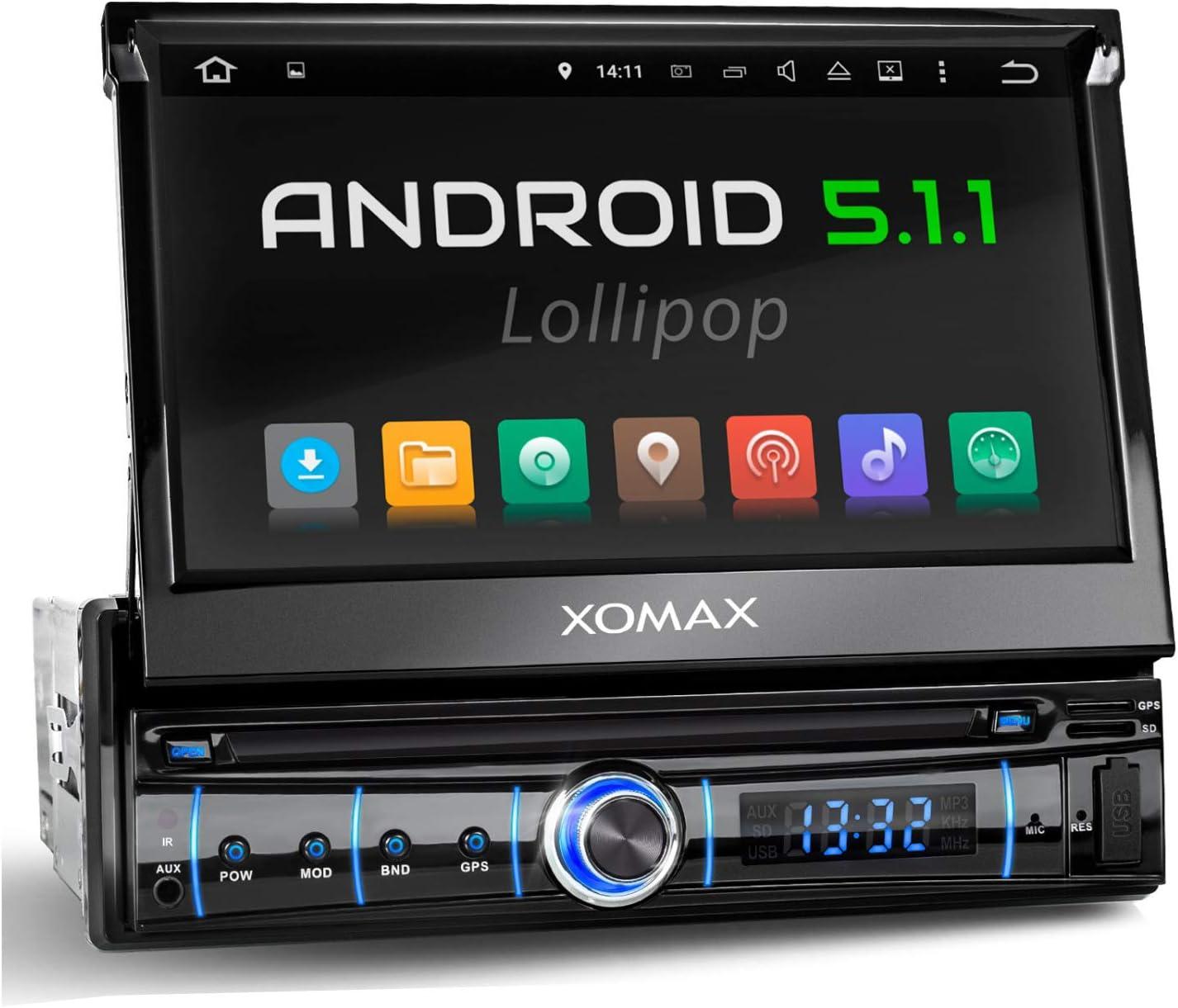 Xomax Xm Vrsua737 Autoradio Mit Android 5 1 16gb Gps Navigation Wifi Wlan Odb2 Mirrorlink Bluetooth Freisprecheinrichtung 7 Zoll 18 Cm Touchscreen Bildschirm Usb Micro Sd 1 Din Elektronik