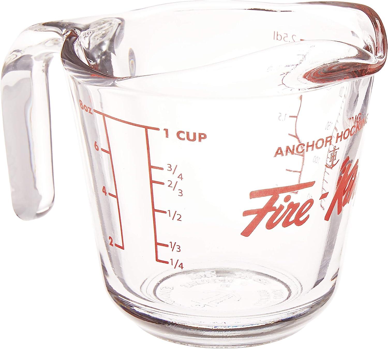Vintage clear anchor Hocking 8 cup baking item measuring cup  vintage kitchen cooking 2 quart batter bowl