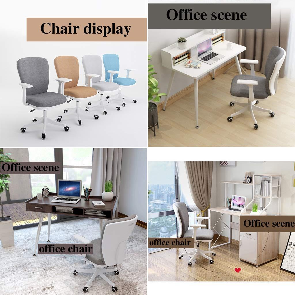ZZHZY BBGS kontor svängbar stol, ergonomisk skrivbordsstol, justerbar datorstol, tyg fåtölj, 5 färger (färg: A) b