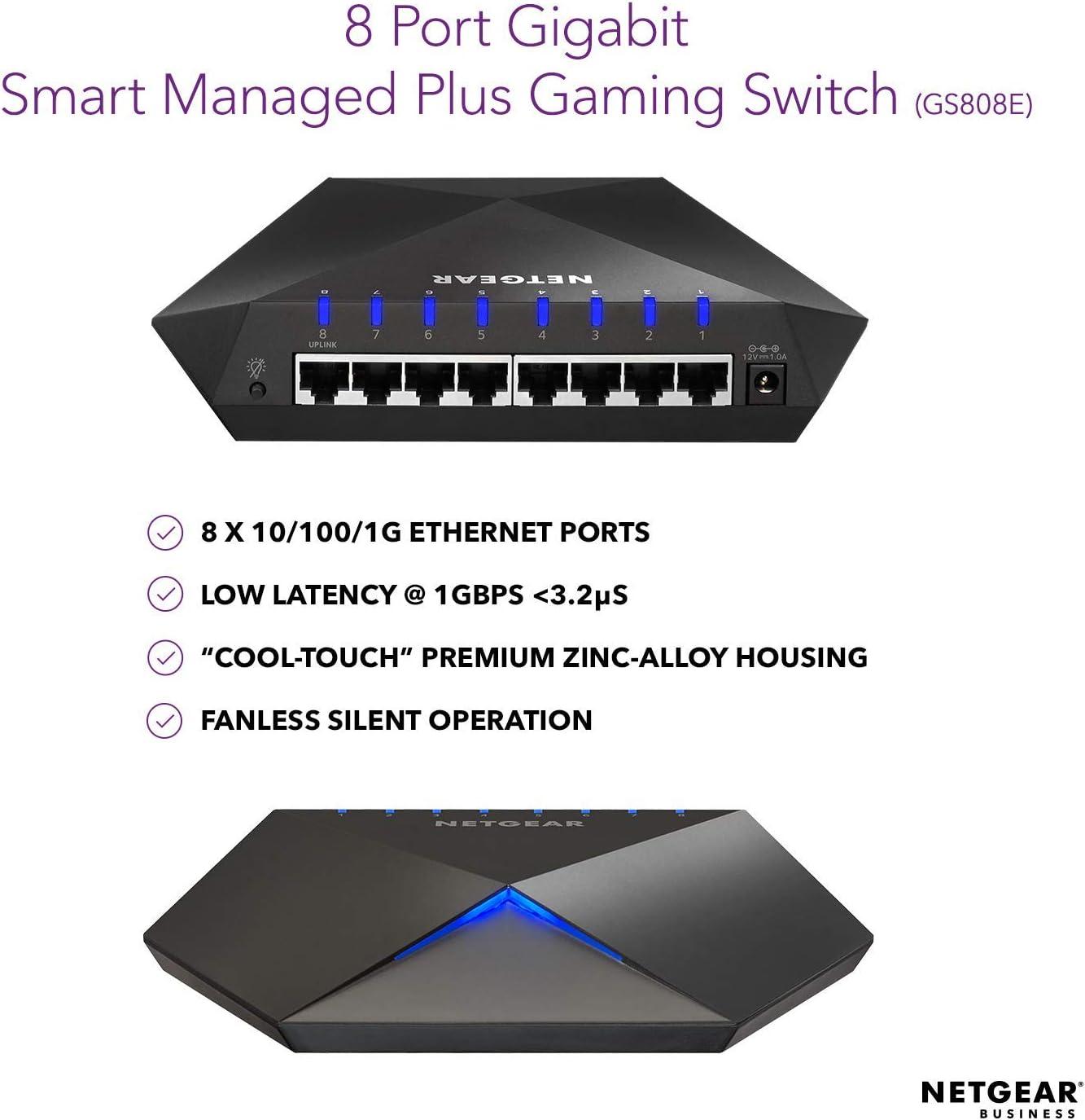 Netgear Ethernet Ports 10 100 1000 Mbps 8 Port Gigabit Computers Accessories