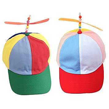 8b016ce30cf2b6 Image Unavailable. Image not available for. Color: mk. park - Propeller  Ball Baseball Hat Multi-Color Clown ...