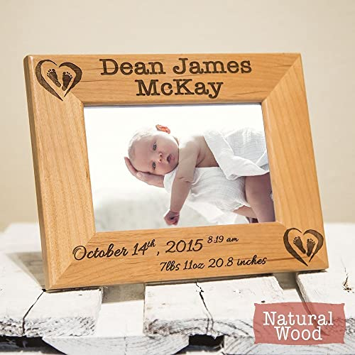 Amazon newborn frame personalized with baby name stats newborn frame personalized with baby name stats birth information engraved on wood negle Image collections