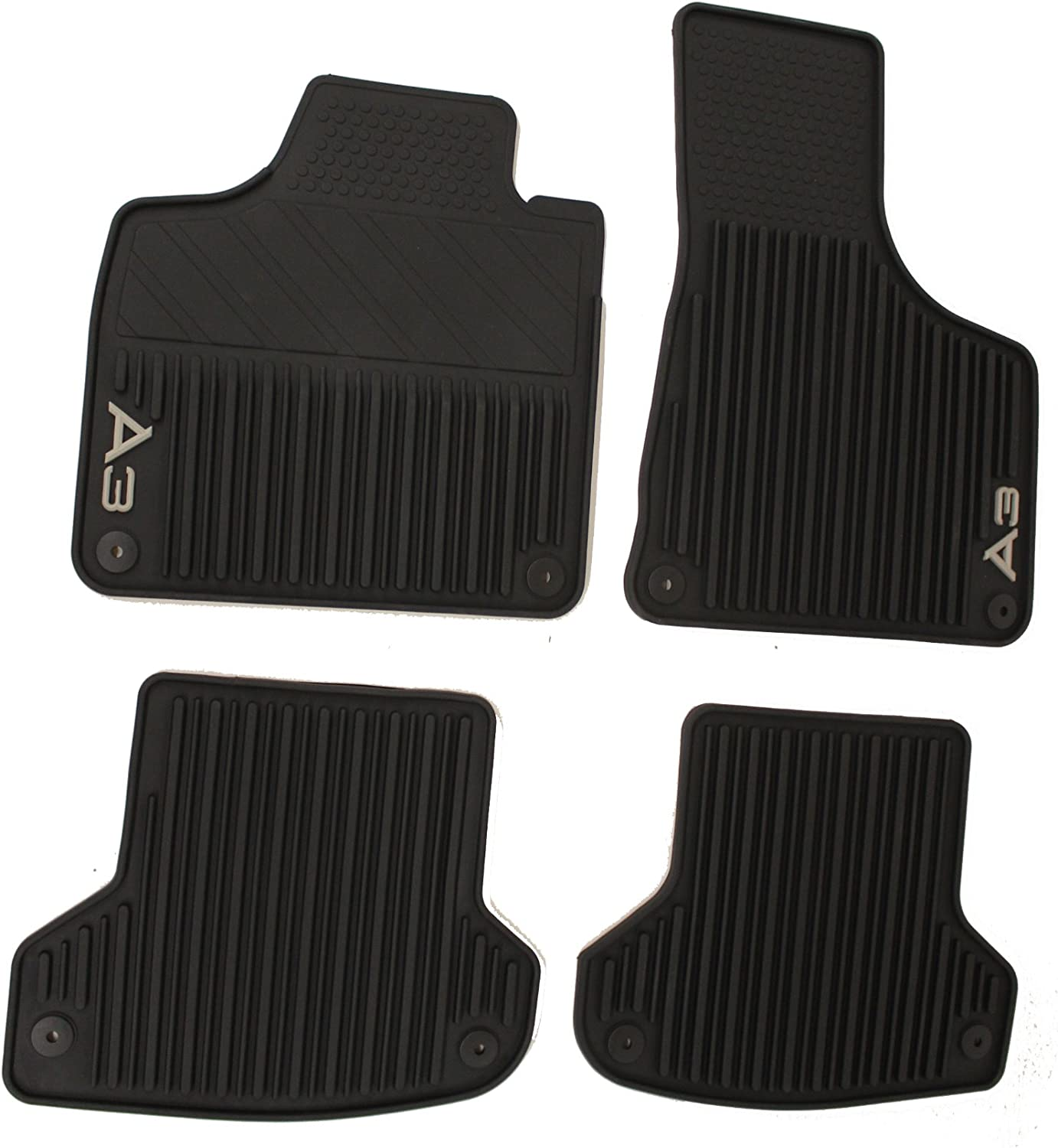 Boot Mat Liner Protector Premium Custom Tailored Fitted Protection Black Waterproof Suitable for AUDI A3 8P Sportback 2003-2012