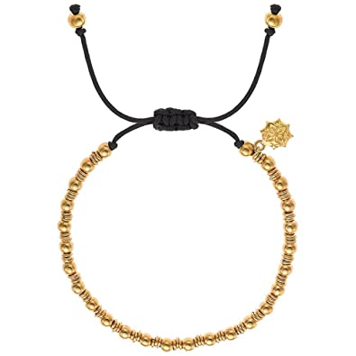 Dower & Hall Nomad Ball and Link Cord Adjustable Misanga Bracelet of 27cm 0BuDg