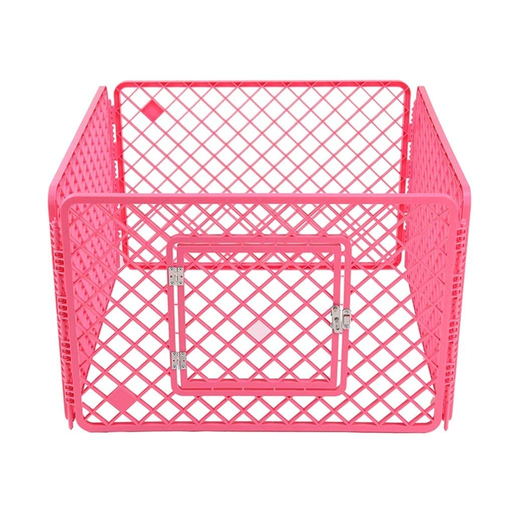 LJFYMX Puppy heavy puppy play pen Pet dog fence resin bluee indoor outdoor 4 panel fence and door Puppy fence