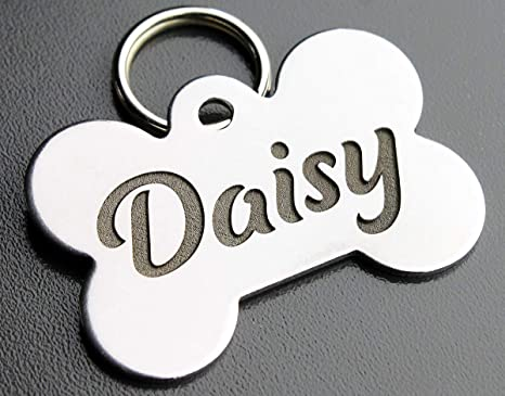 pet tag tag for dogs cat tag tag for pets Name tag with rosehip address tag engraved dog tag stainless steel dog tag ID tag