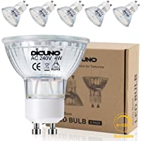 DiCUNO GU10 LED Bulb,dimmable 4W 400LM Spotlight, Equivalent to 60W Halogen Lamp, Daylight White 5000K, 220V, 120°Beam…