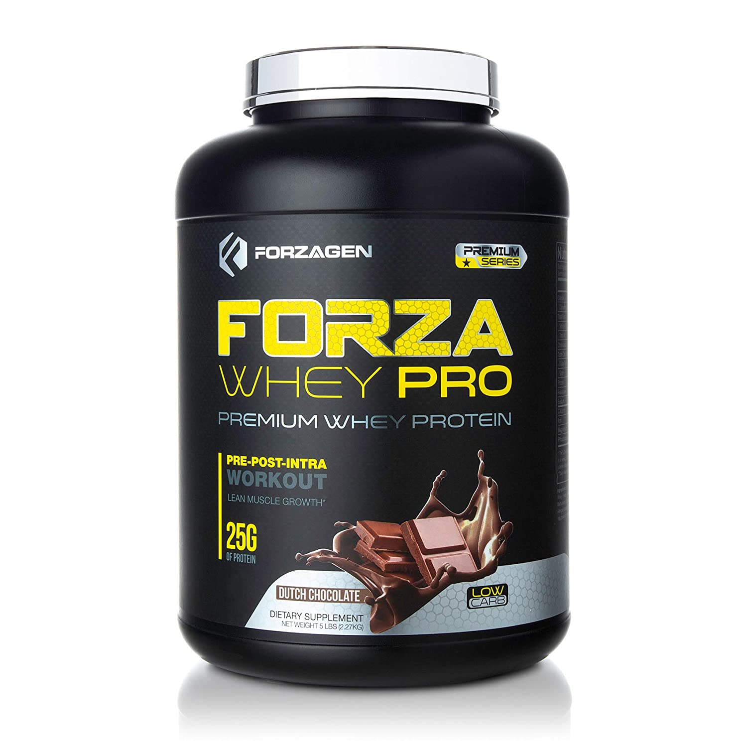 Forzagen Protein Powder 5lb – Best Whey Protein Weight Gainer Increase Muscle Mass Meal Replacement Shakes Low Carb Protein Powder Pre Workout and Post Workout Dutch Chocolate