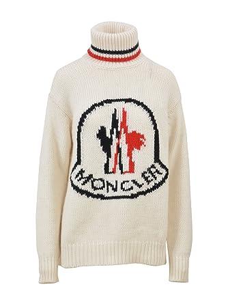 MONCLER Women s 9293200999Bp034 White Cashmere Sweater  Amazon.co.uk   Clothing 53415ad42