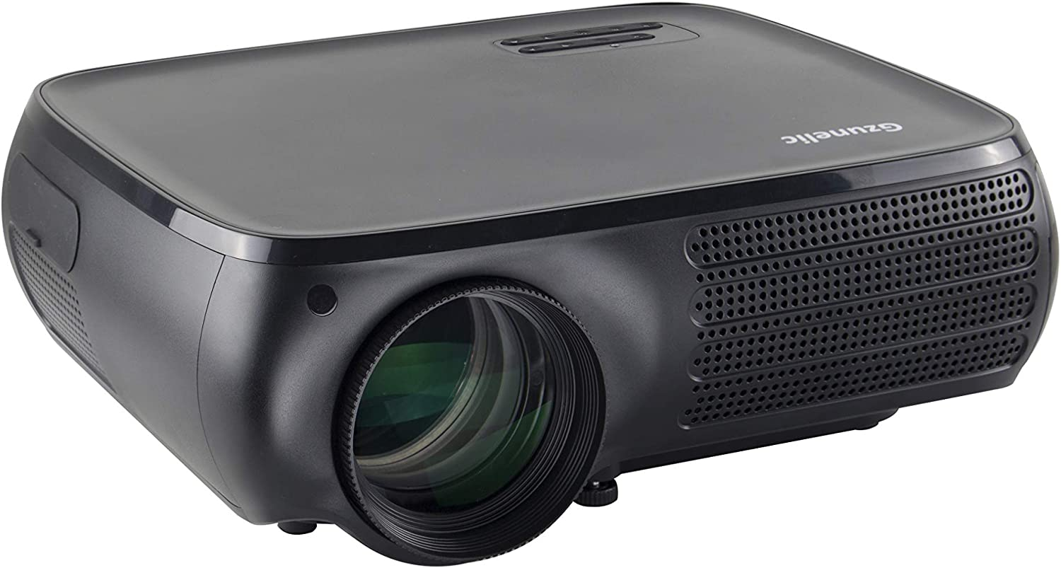 Native 1080P Video Projector - Gzunelic 7000 Lumens Home Theater LED Projector, ±50° 4D Keystone Correction, X/Y Zoom, 10000:1 Contrast, LCD Full HD Proyector Ideal for Home