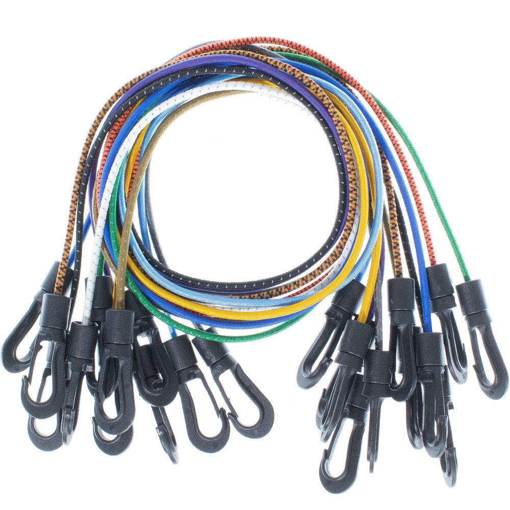 Paracord Planet Shock Cord Kits – DIY Bungee Cords & Tie-Downs – Choose from 5, 10, and 20 Feet Lengths – Rainbow of Colors Available