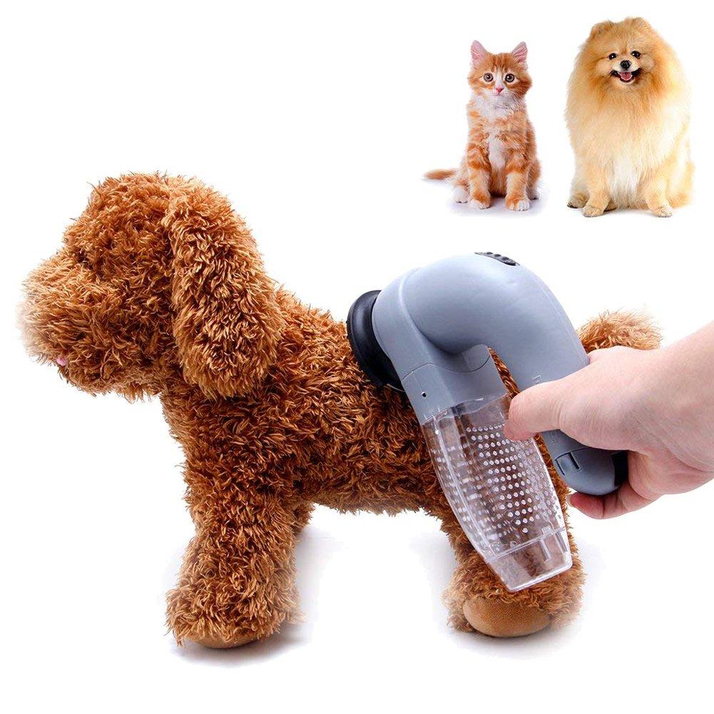 Wgwioo Removedor De Pelo del Animal Doméstico De La Mascota, Peine del Cepillo De La Preparación del Vertimiento Eléctrico, Herramientas De Limpieza del ...