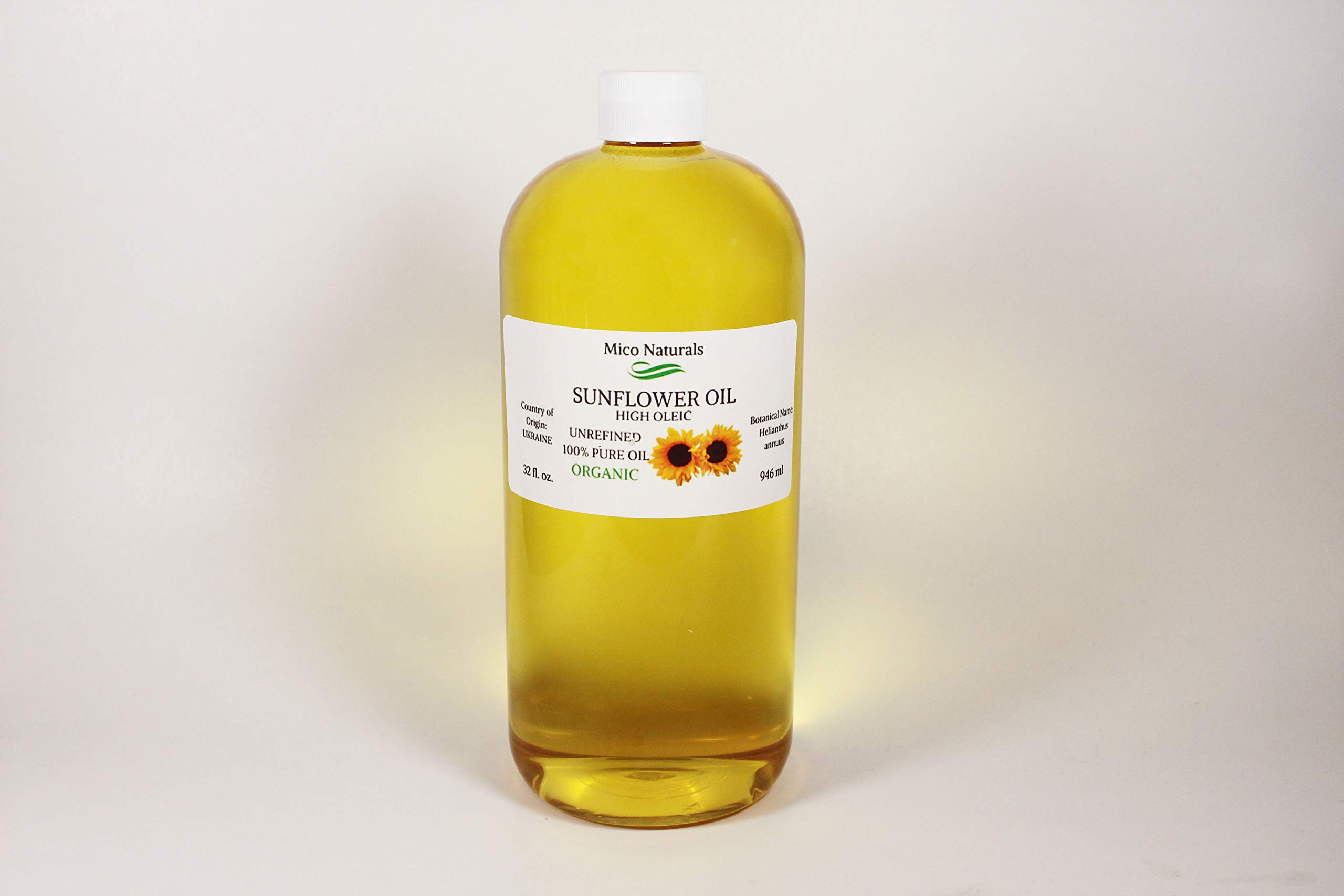 Sunflower Unrefined Organic High Oleic 32 fl. oz. by Mico Naturals by Mico Naturals