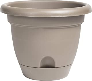 "product image for Bloem LP1683 Lucca Self Watering Planter w/Saucer 16"" Pebble Stone"