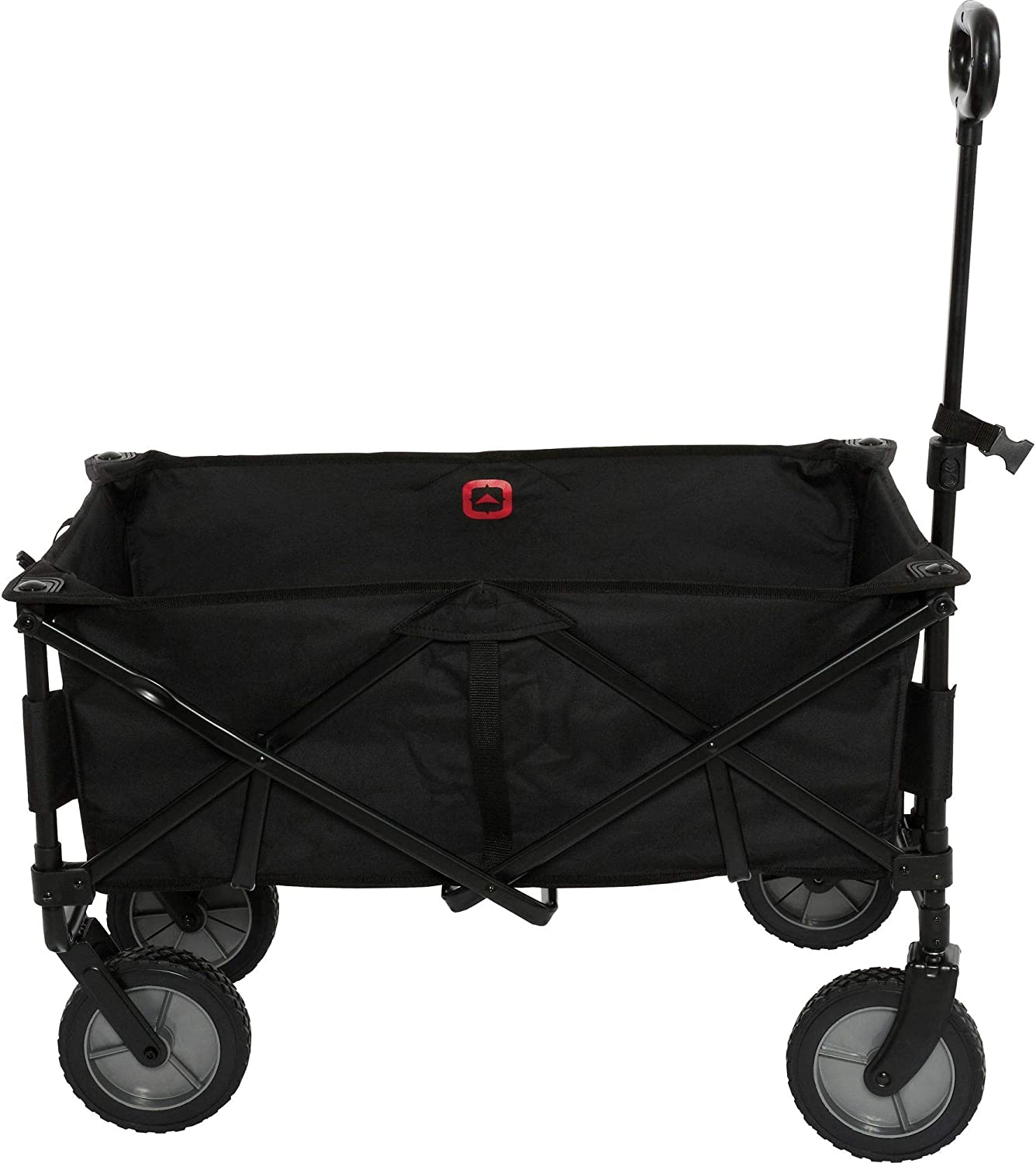 OUTBOUND Folding Wagon   Collapsible Wagon for Beach, Garden, Picnic, Sporting Event, and Park   Compact & Portable Utility Wagon   Black Camping Cart